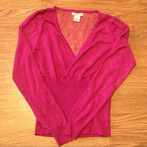 Arden B - Fuchsia Long Sleeve Blouse